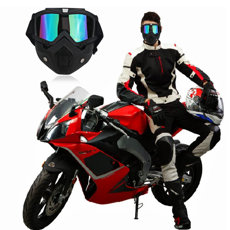 Best Price Moto Motorcycle Goggles Vintage Open Face Helmet Mask