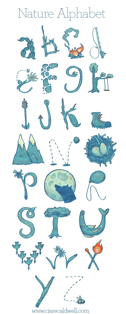 Nature Alphabet by Clare Caldwell | FONT-TABULOUS