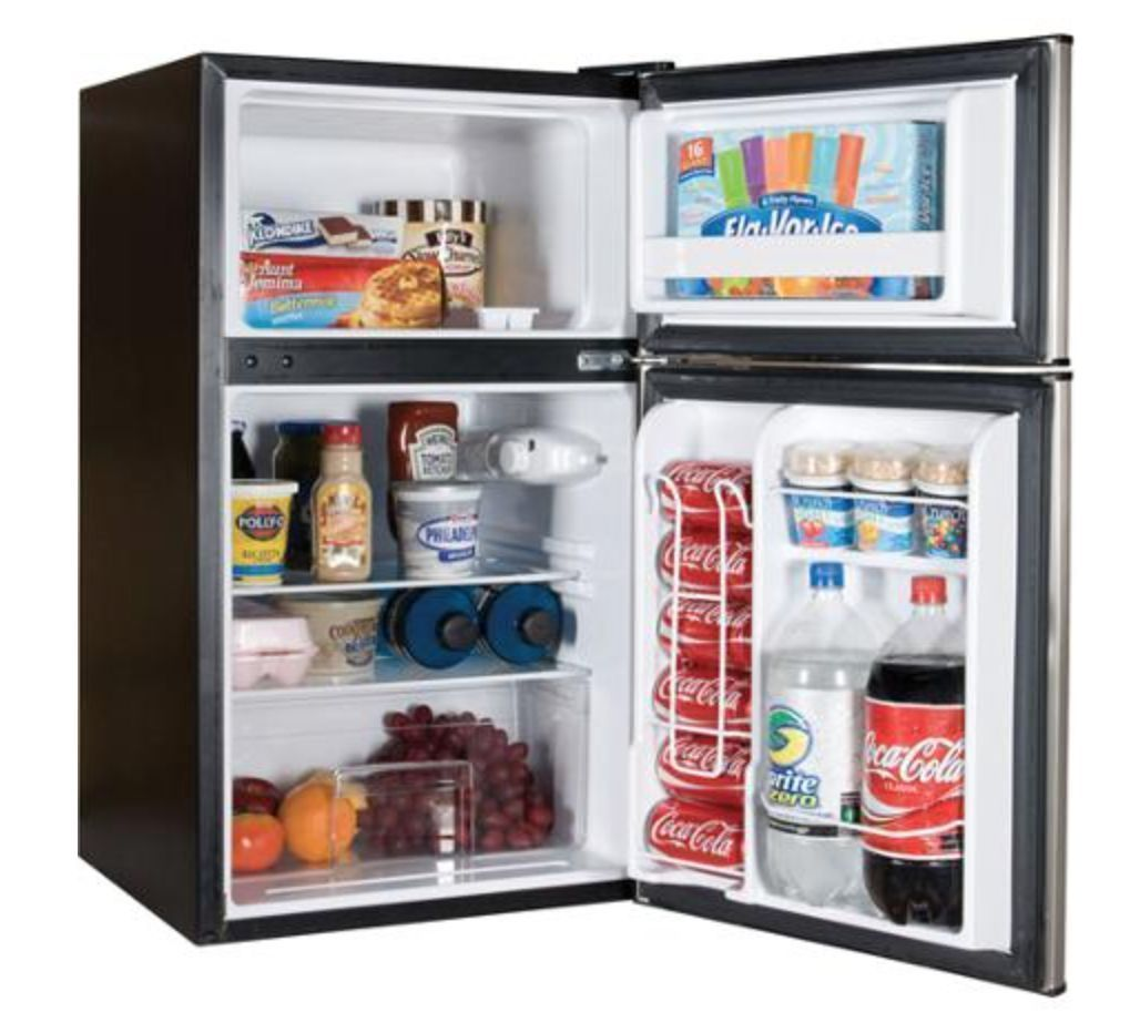 Compact Refrigerator Mini Freezer 2 Door New Ebay Mini Fridge Two Door Refrigerator Small Refrigerator