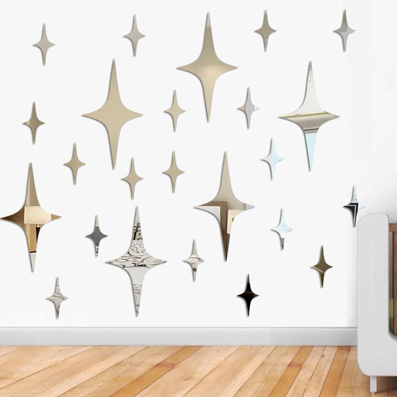 50 pcs star shape 3d acrylic wall stickers living room ceiling
