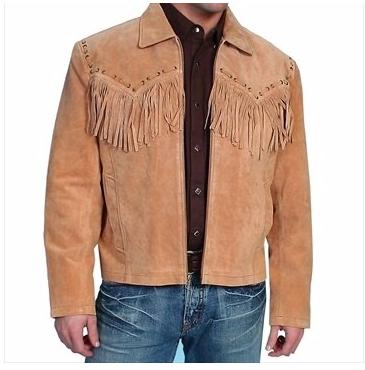 Mens Real Soft OLIVE Goat Suede Jacket Trucker Western Denim Style Slim Fit Coat
