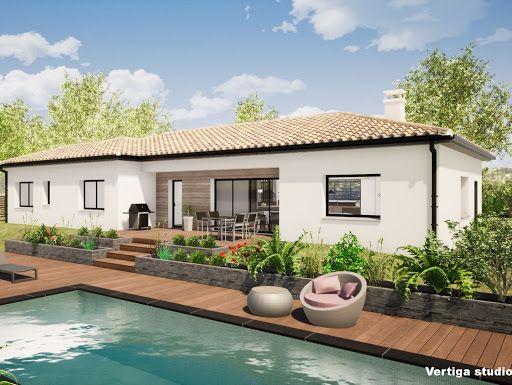 Vertiga Studio Simulation 3D d\u0027une maison de plain pied, juste