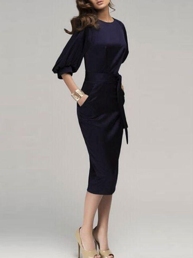 Chiffon Kleid Puff-Ärmeln mit Gürtel 15.32 | My Style | Pinterest ...