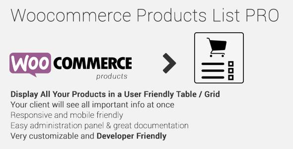 Woocommerce Products List Pro | Best Premium WordPress Plugins