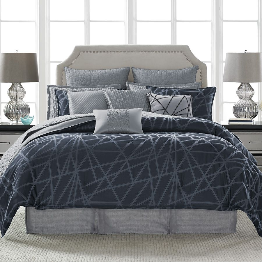 Candiceolson Cross My Heart Comforter Set Bed Modern Bedding Beddingstyle Design Bedroom Spalnya