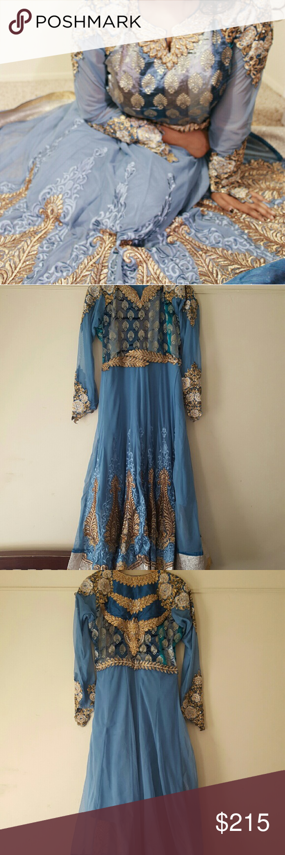 Beautiful eid party salwar kameez gown dress this dress is
