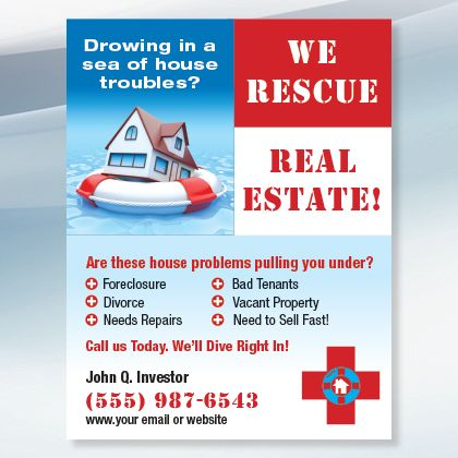 House Rescue New Investor Graphics Real Estate Flyers Wholesale Real Estate Real Estate Marketing