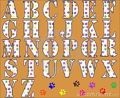 free printable funny alphabet letters paw print alphabet letters royalty free stock images image - Fun Letters To Print