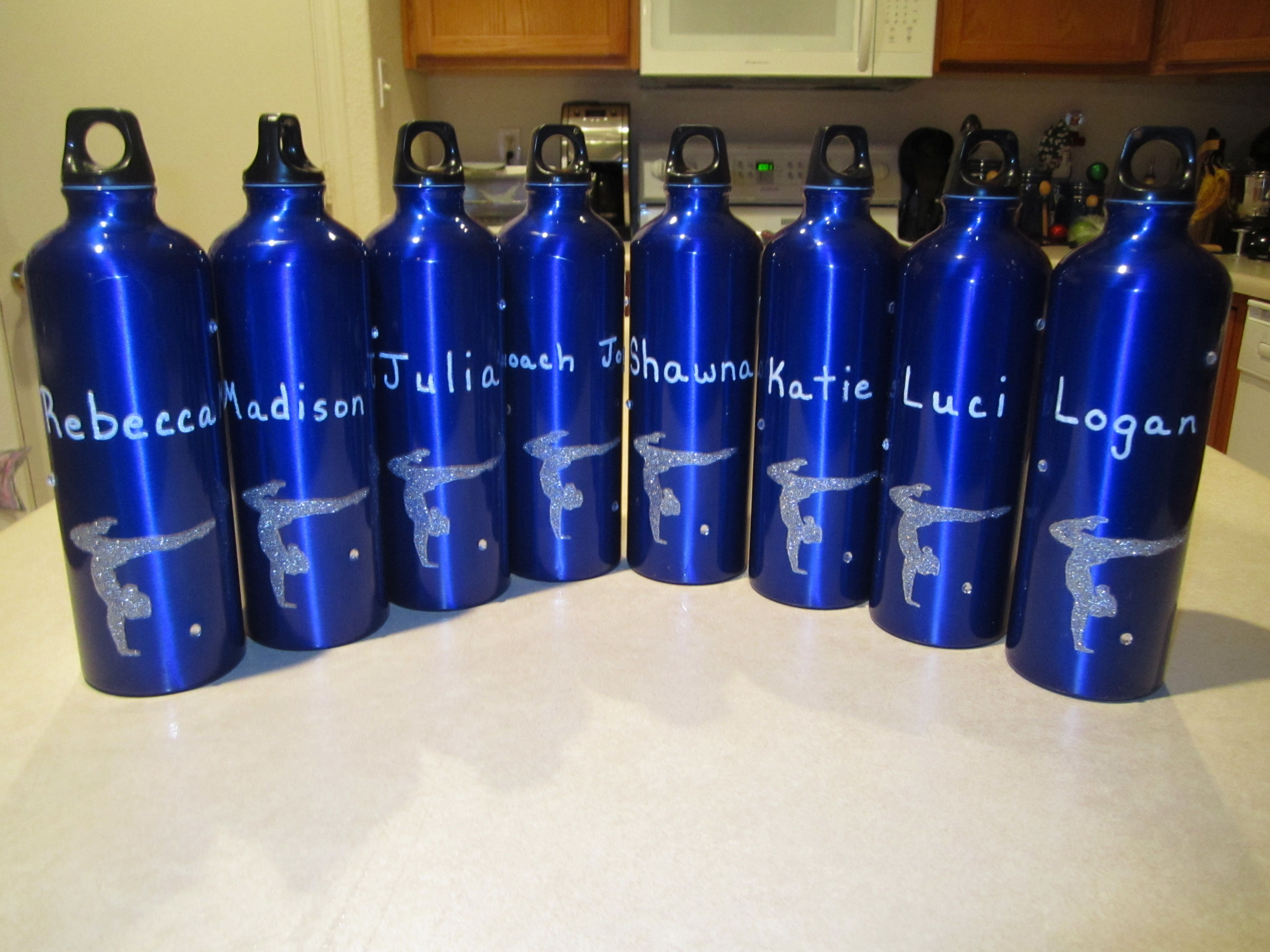 Aluminum water bottles purchased from my local dollar tree for Paint bottles with tips