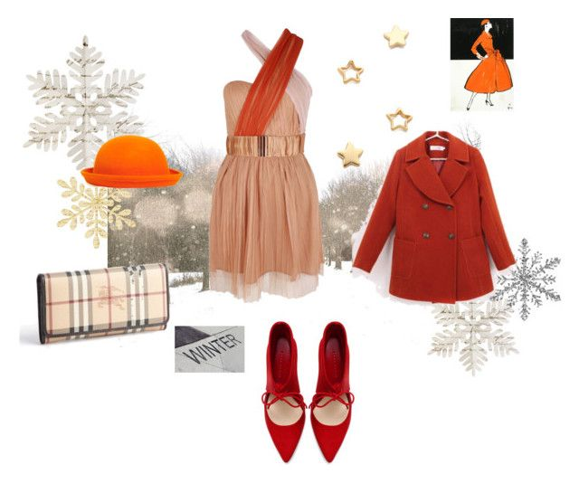 """Winter Fire"" by dream1t ❤ liked on Polyvore featuring Boohoo, Zara, Lucette, Gorjana and Burberry"