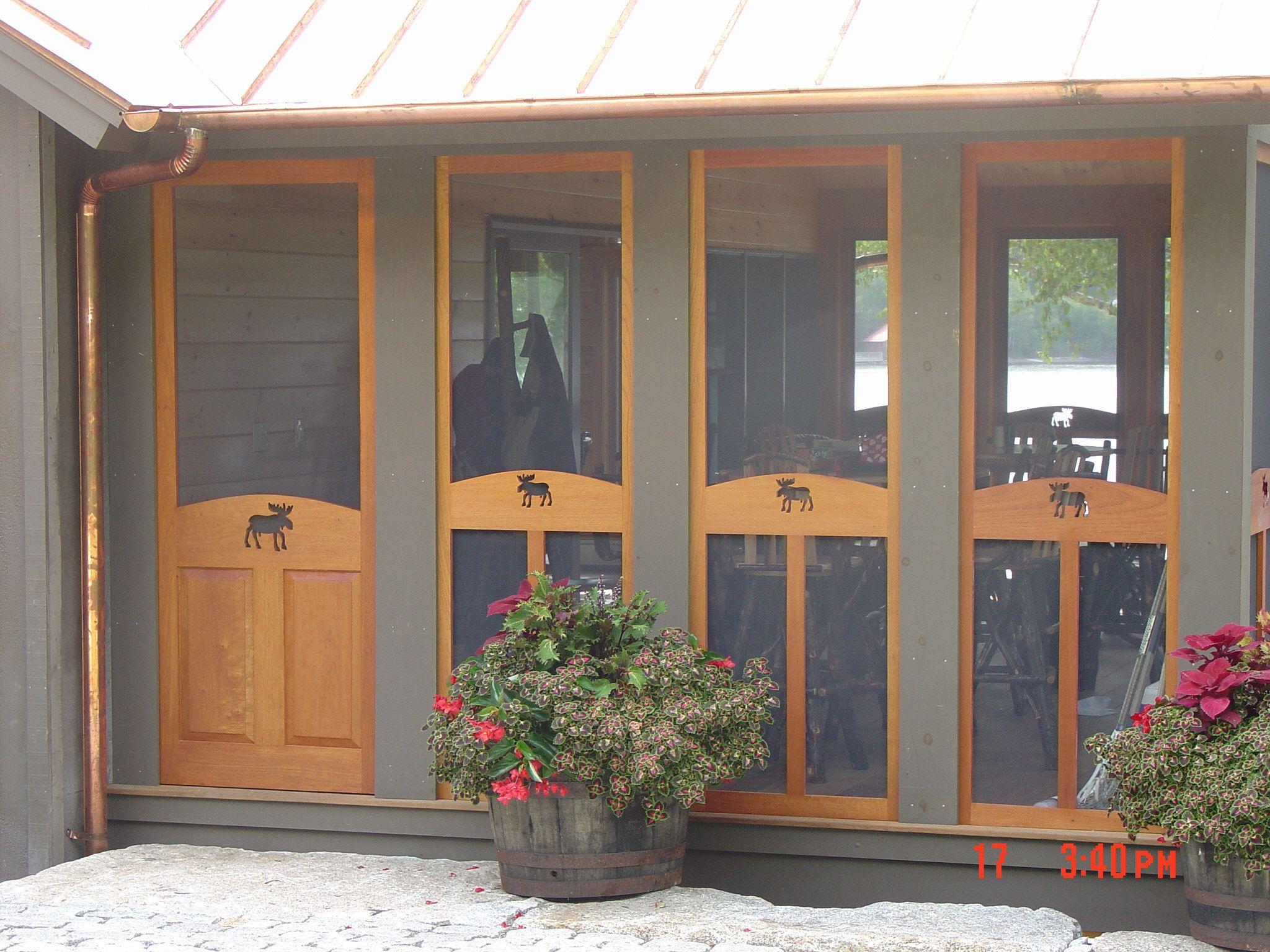 Custom Wood Screen Door Porch Wooden Screen Door Company Deck