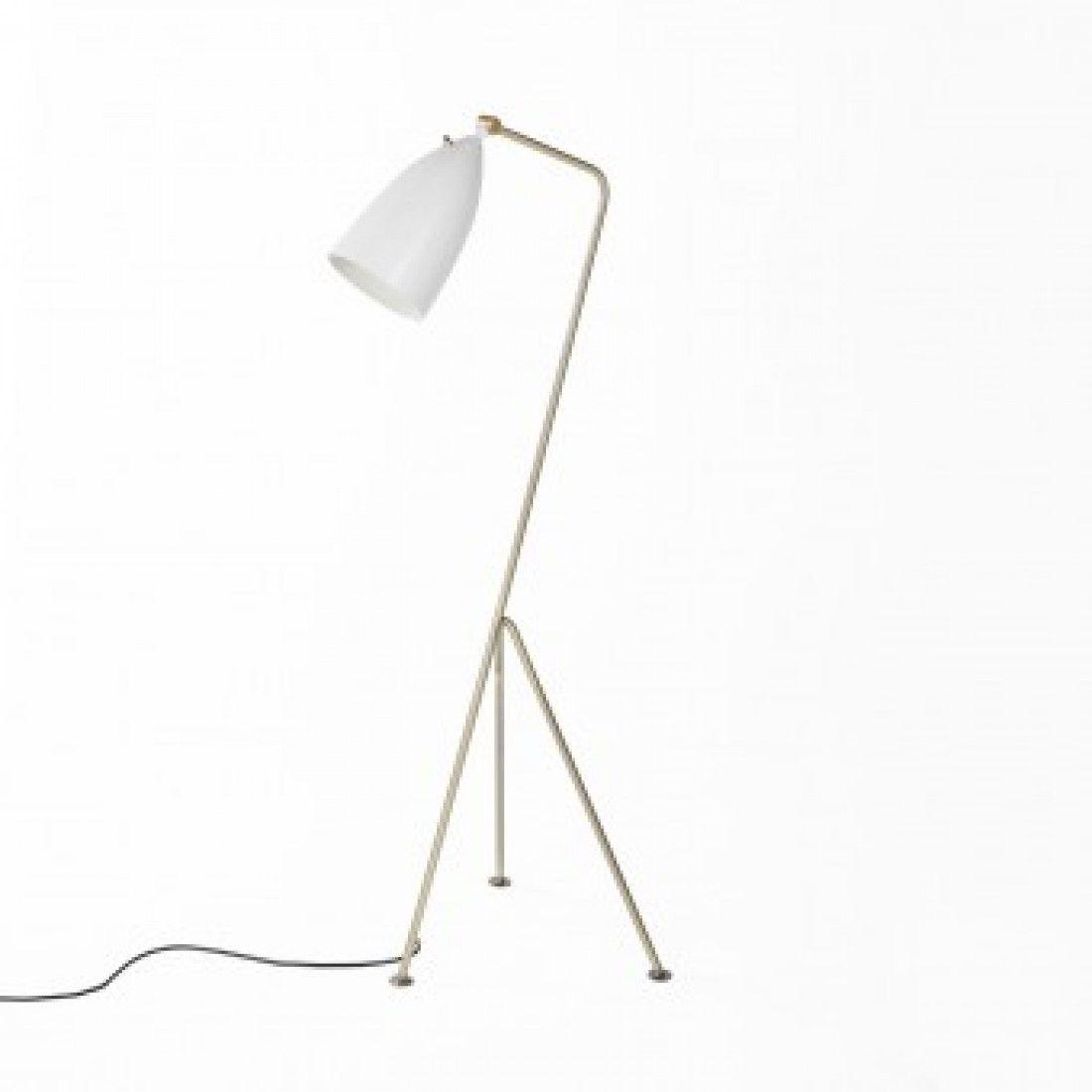 Grasshopper Floor lamp   Matte Pearl   Brass floor lamp, Floor lamp, Transitional decor