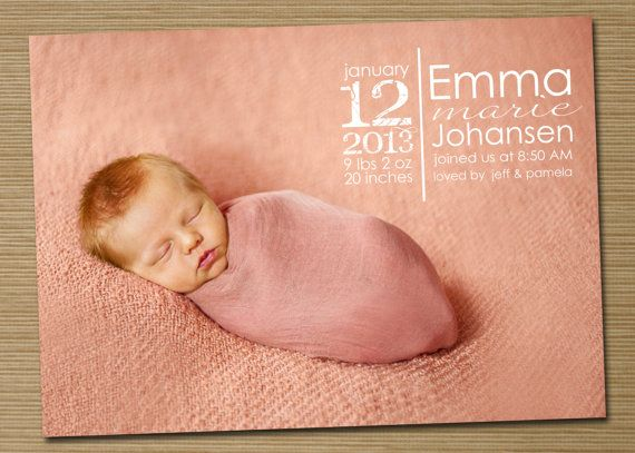 Doc736881 Birth Announcements Templates 15 Mustsee Birth – Announcement Template