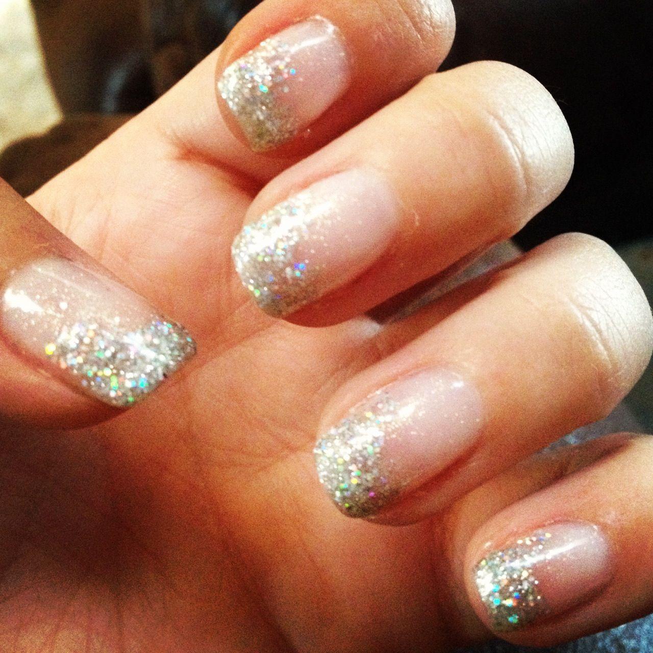 Sparkle tip gel nails   Nails   Pinterest
