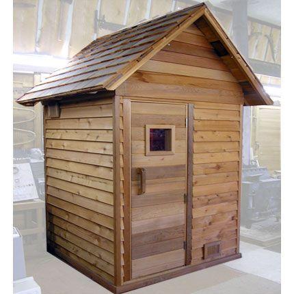 Outdoor Sauna Kit With Pre Built Panels Roof Door Heater Rocks