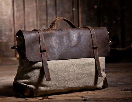 Kelly Canvas-Leather Tote/ Canvas bag/Shoulder Bag/ Woman bag/ Leather Satchel/ Single shoulder bag. $79.00, via Etsy.