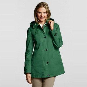 Green Petite Modern Rain Swing Coat | wardrobe wants | Pinterest ...