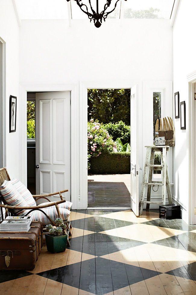 suelos pavimentos techos pisos pintados losetas espacios decorativos casas interior interiores ventana casas