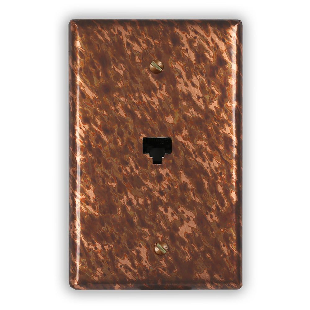 Sandstorm Copper 1 Data Jack Switch Plate Copper Patina Copper Sheets Plates On Wall