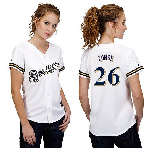 factory price 5d455 071ea Milwaukee Brewers Womens Personalized Replica Jersey by ...