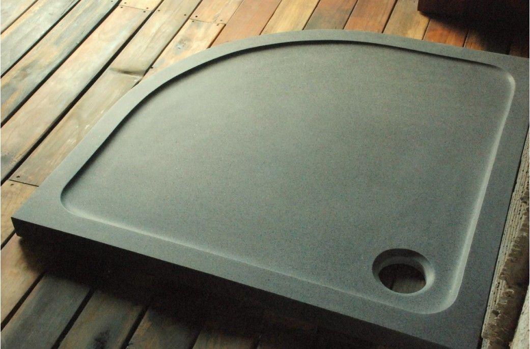 Receveur De Douche D Angle 1 4 De Rond 90x90cm Granit Veritable Lagoon Douche Angle Receveur De Douche Douche En Granit