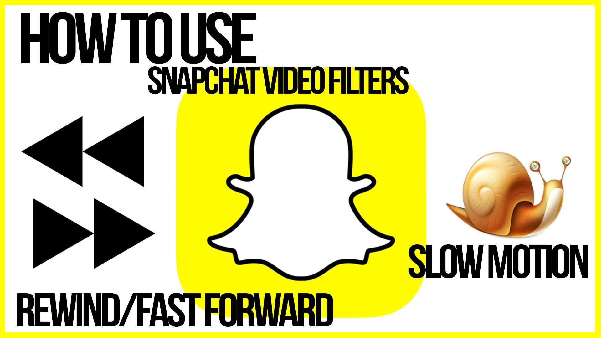 How To Use Snapchat Video Filters Reverse Fast Forward Slow Mo Snapchat Tutorial Snapchat Video Snapchat Video Filters Technology Tutorials
