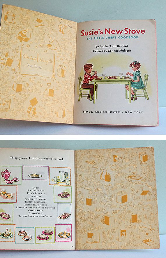 Susie's New Stove The Little Chef's Cookbook a 1950 by Tparty