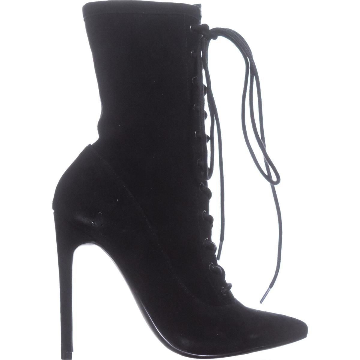 b0b13048c61 Steve Madden Satisfied Lace Up Ankle Boots Black Suede 7.5 US #boots ...