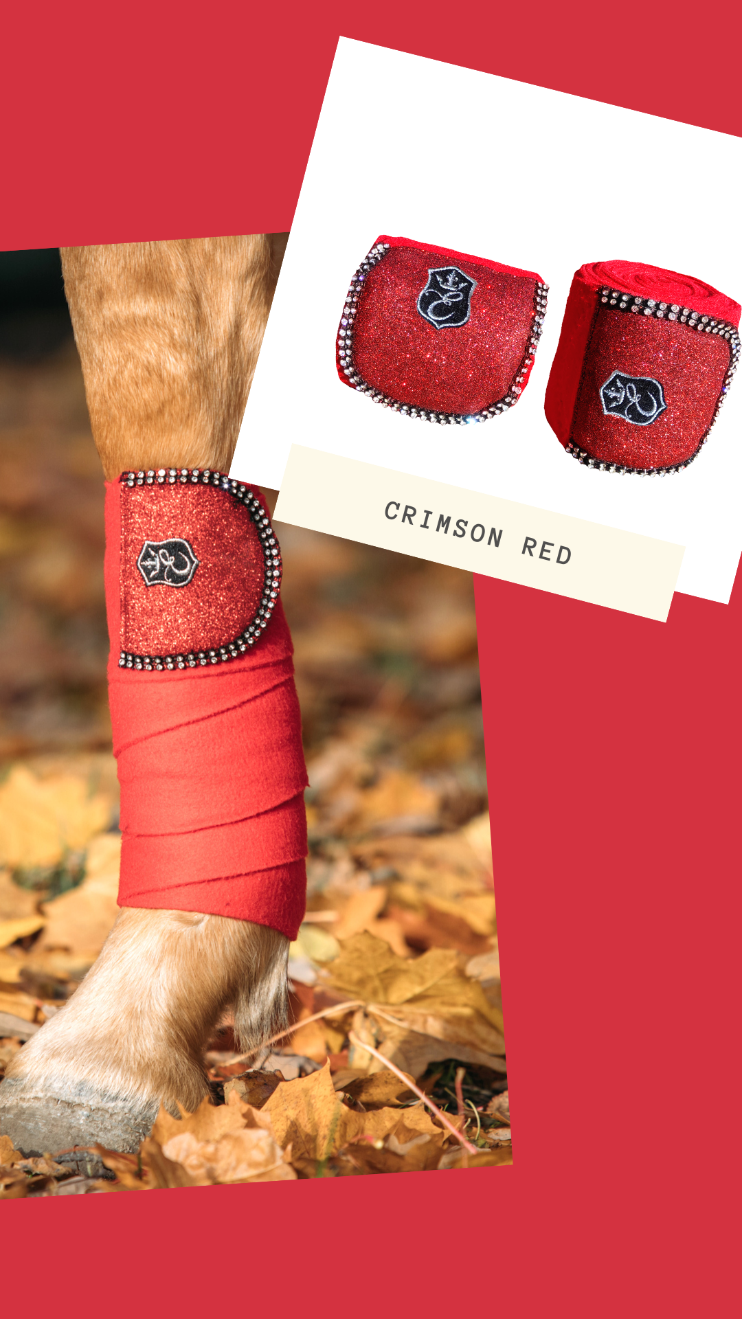 Christmas Polo Boots 2020 Crimson Red Polo Wraps (set of 4) in 2020 | Polo wraps, Embroidery