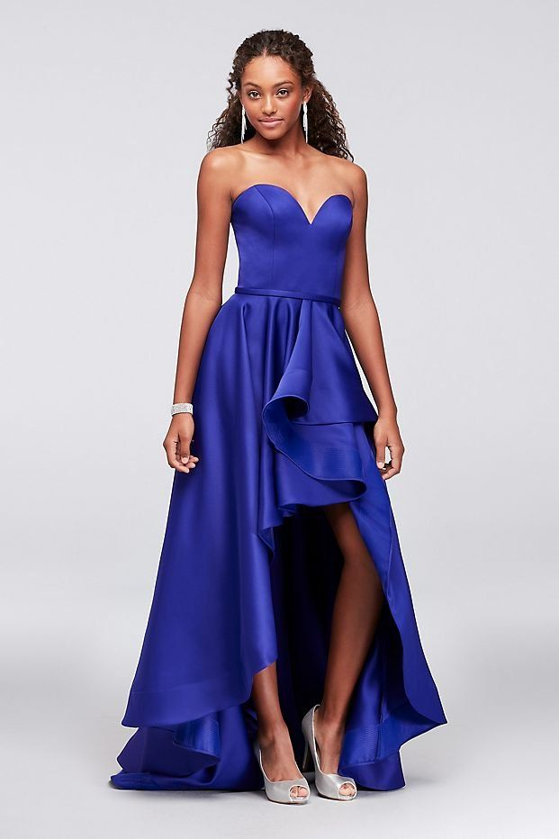 Satin Sweetheart High-Low Ball Gown Prom Dress by Terani available ...
