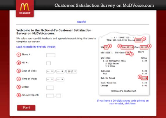 McdvoiceCom  McdonaldS Customer Satisfaction Survey  Piterson