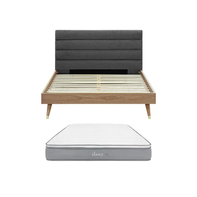 Darwin Queen Bed With Sleep Mattress Queen Beds Mattress Mattress Frame