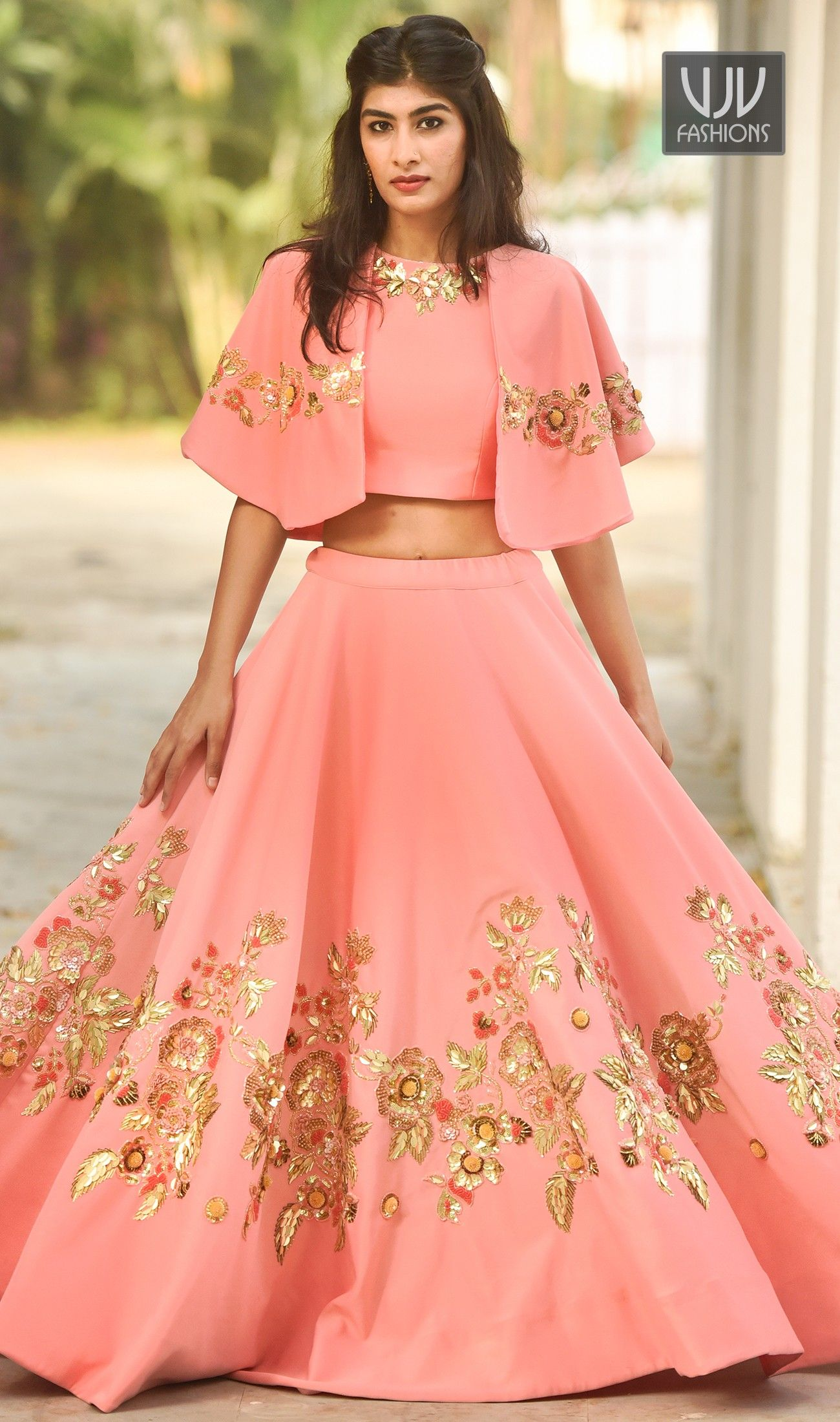 e81637b139ab Peach IndoWestern Lehenga Find #Stylish #Indowestern #lehenga at lowest  price