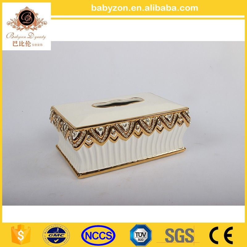 High Grade Porcelain Tissure Box Black White Tissue Cover View