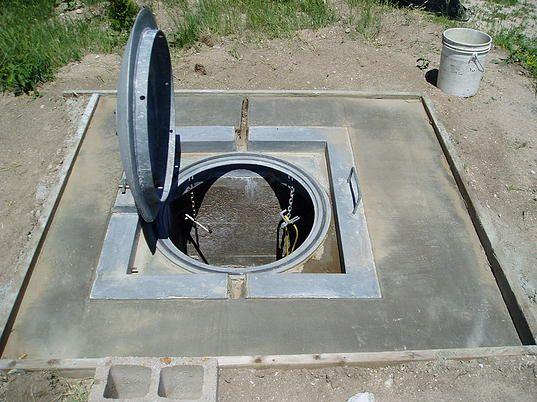 Escape hatch from Launch Control Center Atlas E missile