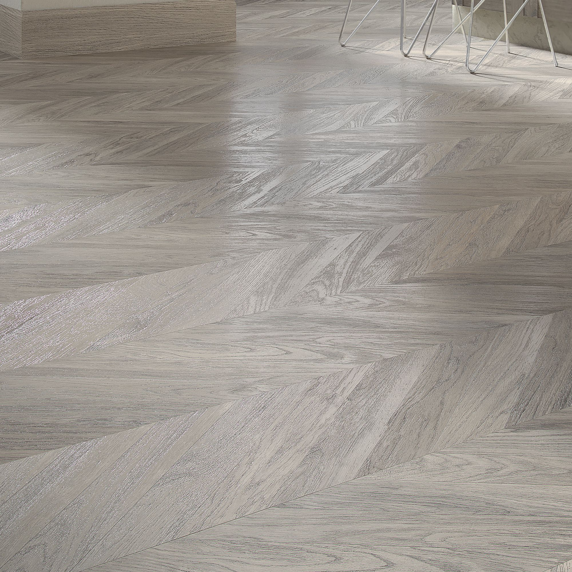 Alessano Herringbone Grey Embossed Laminate Flooring 1.39 m² Pack | Departments | DIY at B&Q