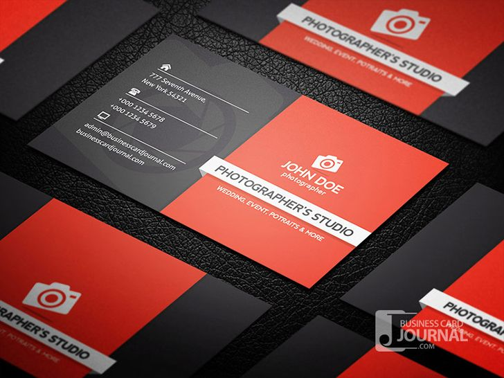 Free Photographer Business Card Design  Design