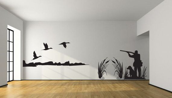 Pintail Duck Hunting Wall Decal- Large Hunter And Dog Duck