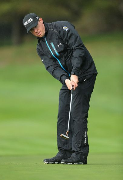 Hunter Mahan Putts On The First Hole During Round Of At T Pebble Beach National Pro Am Golf Links February 6
