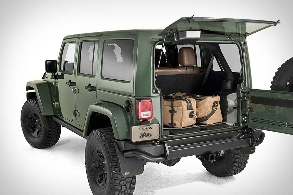 filson x aev jeep wrangler jeeps cars and rigs. Black Bedroom Furniture Sets. Home Design Ideas
