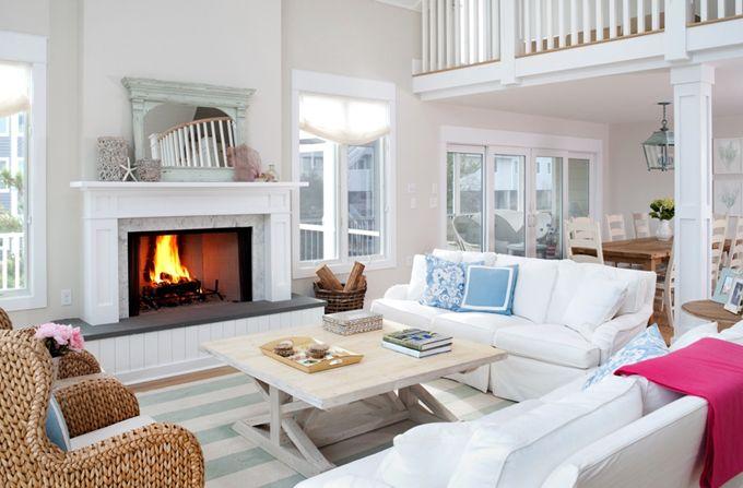 "beach house: main room paint color - benjamin moore ""winds breath"