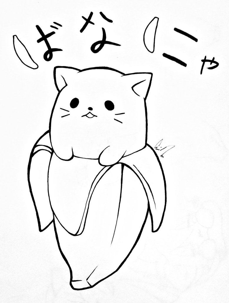 Bananya By Cassidyleora Cat Coloring Book Cat Coloring Page Puppy Coloring Pages