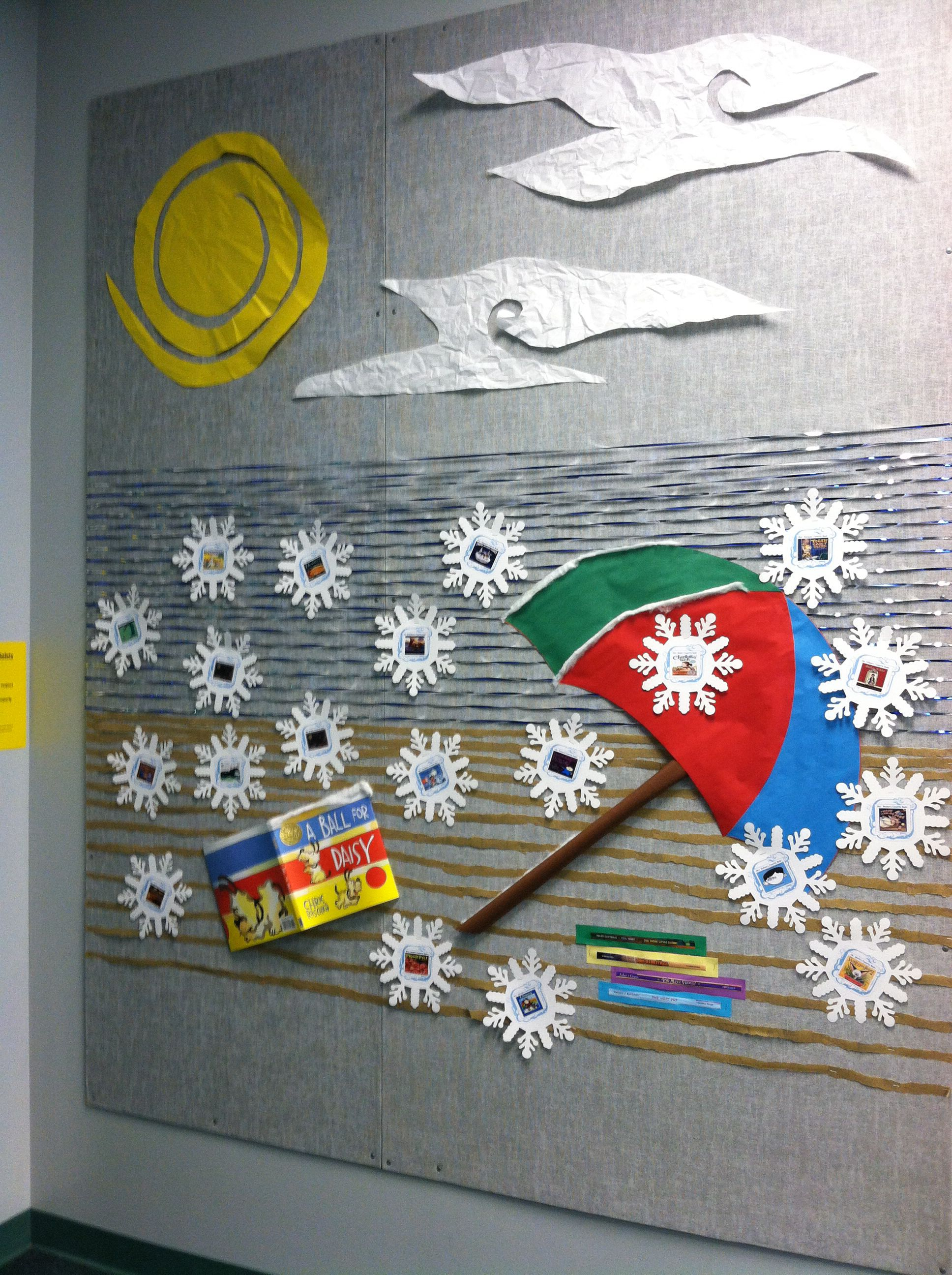 Added Cricut Snowflakes With The Teacher S Favorite Books