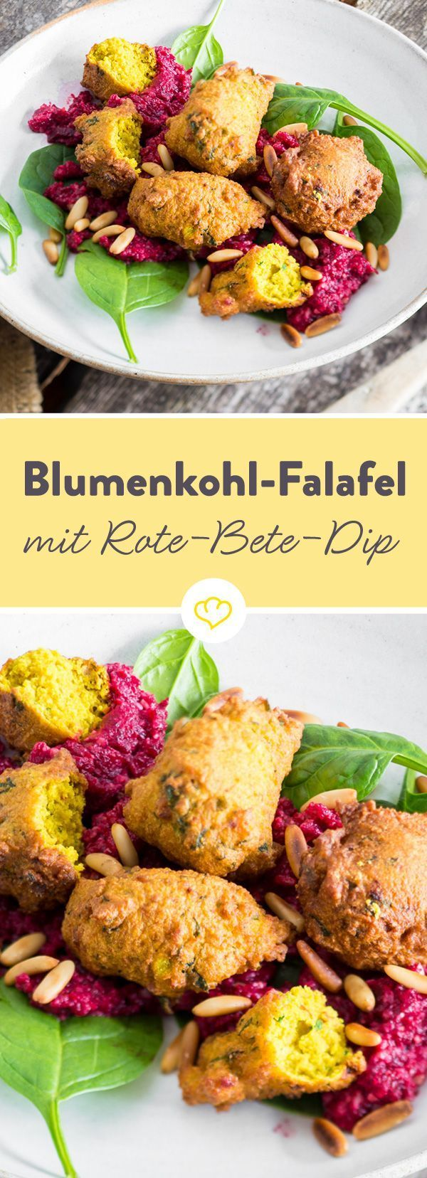 Photo of Street food deluxe! Cauliflower falafel with beetroot dip