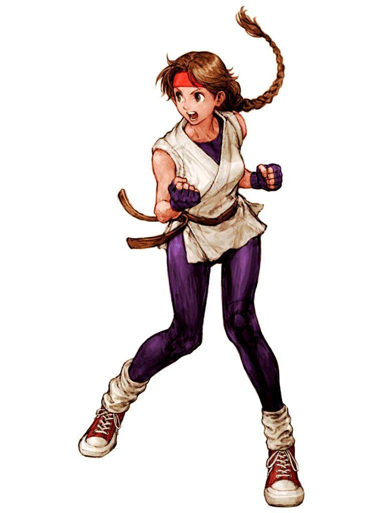 Character Design King Of Fighters : Yuri sakazaki origin art of fighting kof
