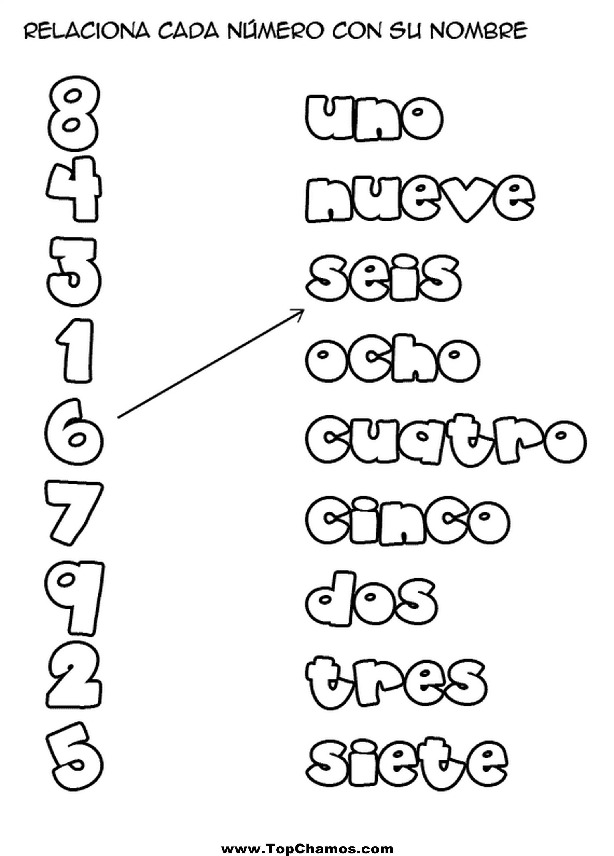 Relaciona Cada Numero Con Su Nombre