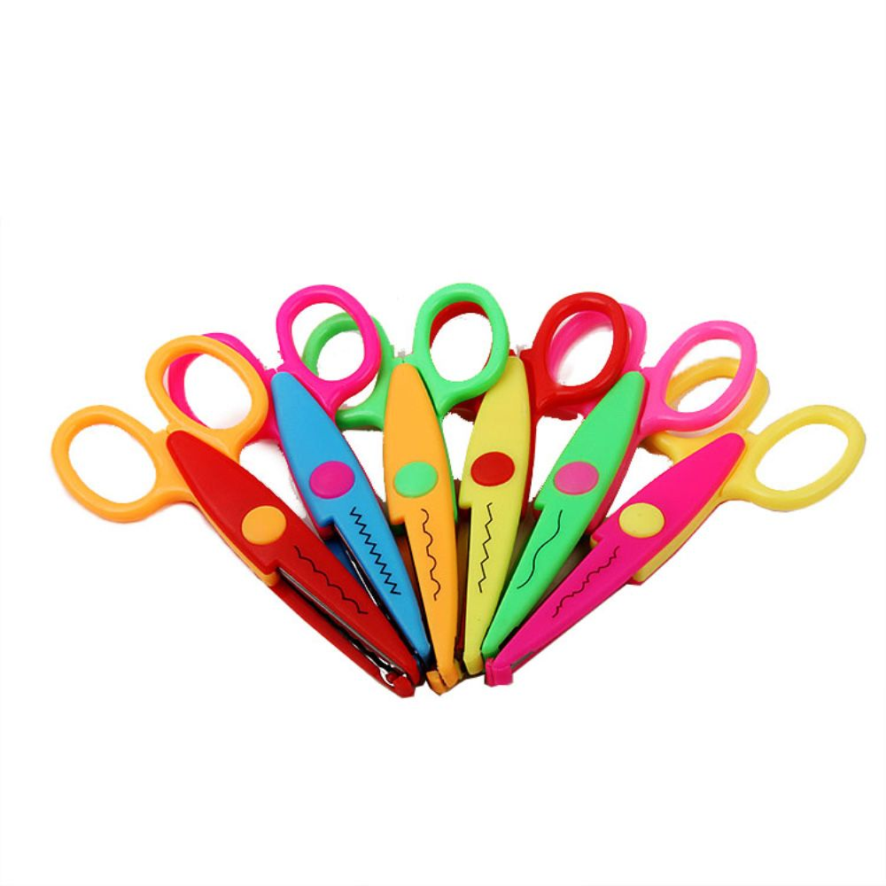 Cutting Supplies Scissor Student Kid Fold Stationery Art Child Preschool Paper Cut Office Diy School Home Photo Safe Blunt Tip Protect Portable