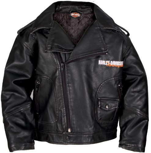 Harley Davidson Boys Youth Upwing Eagle H Dmc Biker Jacket Black Harley Davidson Boys Kids Http Www Amaz Baby Boy Jackets Pleather Jacket Cool Baby Clothes