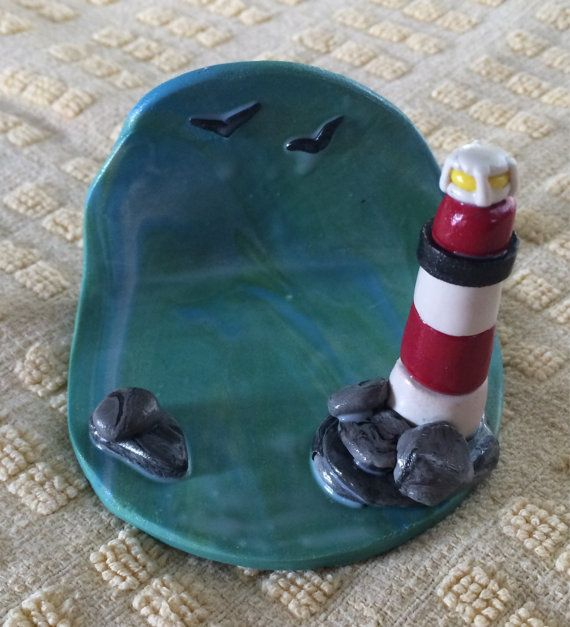 Lighthouse business card holder by justbuttonz on etsy tarjeteros items similar to lighthouse business card holder on etsy colourmoves