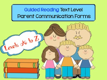 Photo of Guided Reading Text Level Parent Communication Forms (also avail. in a bundle)